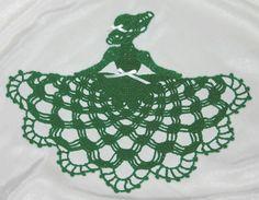 Irish Crinoline girl doily From crochetmemories.com for $3.95.