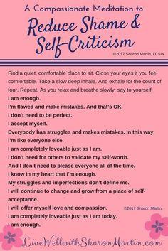 Healing Shame and Self-Criticism