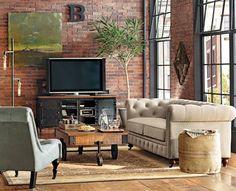 The industrial loft look. HomeDecorators.com