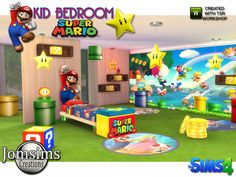 Lana CC Finds - Super mario kids bedroom by jomsims