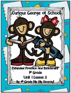 Journeys Common Core 1st Grade Edition...Curious George at School...Save My Ink from First Grade Hip Hip Hooray on TeachersNotebook.com -  (60 pages)  - Extend, supplement, and enhance your Journeys Common Core Reading Program.