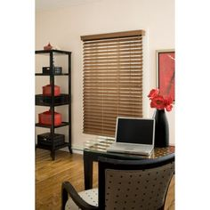 Richfield Studio 2.5 inch Faux Wood Blinds, Maple, 10x72 - 40.5x72, Brown
