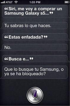 Se la echo #Siri cuando le dije que quería un #GalaxyS5 XD