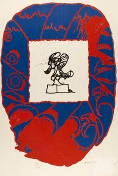 PIERRE ALECHINSKY (NE EN 1927) BLEU/ROUGE Lithographie en couleurs sur Arches Signée et numérotée 106/150 85 x 56 cm - Cornette de Saint Cyr maison de ventes - 17/06/2013 Art Informel, Tachisme, Art Pierre, Art Database, Moma, Signs, Abstract Expressionism, Painting & Drawing, Illustration Art