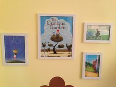 Story-inspired decor: Using book jacket covers as art!