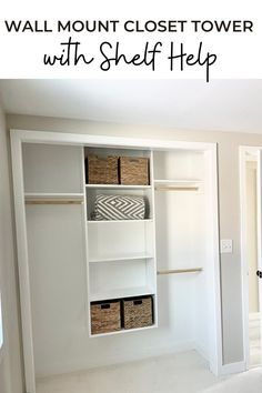 Good closets make clean houses! Here's how you can build your own custom closet towers to create a dream closet system! Use just one tower for a small space, or many towers for a large master closet. Free tutorial by Ana-White.com. #anawhite #anawhiteplans #diy #closettower #shelfhelp #diycloset Closet Storage Systems, Closet System, Closet Organization, Organization Ideas, Wall Mounted Closet, Hanging Closet, Room Closet, Master Closet, Master Bedroom