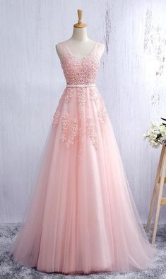 Pink Prom Dress, Prom Dresses, Graduation Party Dresses, Formal Dress For Teens BPD0443