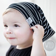 SLOUCH BEANIE for the wild and rad.  Handmade with the softest black + white bamboo-knit fabric.   http://wildlittlecomfies.storenvy.com