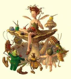 fairy sewing tony deterlizzi art.