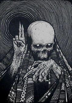 ┼Metal is my life!Page about metal,dark art,horror and other brutal things! Arte Horror, Horror Art, Art Épouvante, Inspiration Art, Art Inspo, Skull Tatto, Tattoo Art, Dark Tattoo, Art Noir