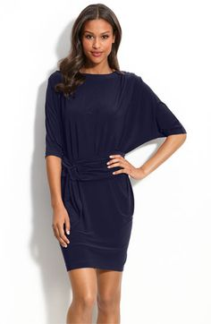 Mark & James by Badgley Mischka Belted Jersey Dress available at #Nordstrom