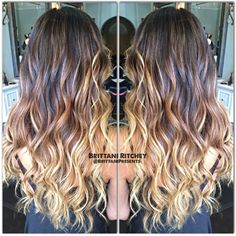 Milk chocolate brown  with Carmel balayage highlights sombre