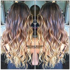 Carmel balayage, Light brown ombre and Balayage highlights on Pinterest