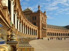 25 Star Wars Film Locations You Can Visit Today: Plaza de España - Do you recognize this architectural marvel in the Star Wars movies? Spain's gorgeous Plaza de España in Seville was shot for the arrival of Anakin and Padmé Amidala on Naboo. (Extended scenes can be seen on the DVD's deleted scenes.) #StarWars