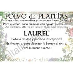 CONTRA LA GENTE TÓXICA - Polvo de plantas LAUREL