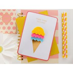 It's National Best Friend Day! Treat your BFF to an ice cream cone today! Check out more of our handmade cards on our website! #NationalBestFriendDay Tag your BFF in the comments!