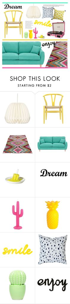 """""""Untitled #2509"""" by liliblue ❤ liked on Polyvore featuring interior, interiors, interior design, home, home decor, interior decorating, Fearne Cotton, Dot & Bo and Sunnylife"""