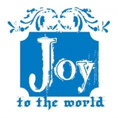 Stamp It Stamp Filigree Joy Woodmount Stamp