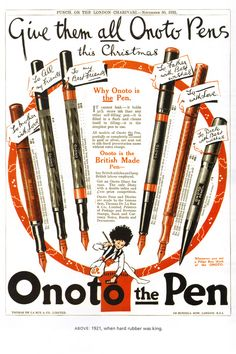 Onoto vintage pens, want one.. #pens #fountain pens