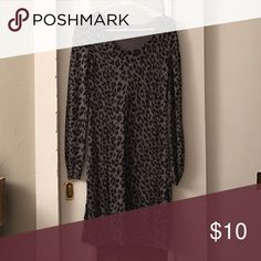 Cheetah Sweater Dress Only worn once! Old Navy Dresses Midi
