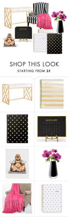 """My Desk"" by california-babe on Polyvore featuring interior, interiors, interior design, home, home decor, interior decorating, Worlds Away, Sugar Paper and LSA International"