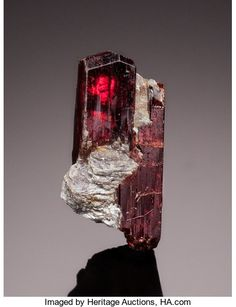 Tantalite-(Mn) - Minas Gerais, Brazil Size: 0.64 x 0.64 x 1.91 cm