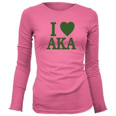 PRIMARY COLOR = Color of Shirt is lighter green -Please Note: We have 2 different style Shirts The Hot Pink Shirt is a Missy Fit, crew neck long sleeve, available in Sizes: S - 3XL - Pre-shrunk Cotton for a lasting fit - Double-needle stitching throughout - Seamless rib at neck - Taped Aka Sorority, Alpha Kappa Alpha Sorority, Green Ideas, Greek Life, Professional Women, Casual Summer Outfits, 4 Life, Cupcake Toppers, Different Styles