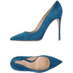 Gianvito Rossi Pump ($389) ❤ liked on Polyvore featuring shoes, pumps, deep jade, stiletto pumps, heels stilettos, stiletto high heel shoes, gianvito rossi and genuine leather shoes