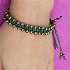 DIY Macrame Beaded Bracelet Tutorial