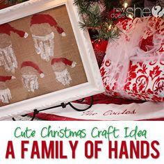 Love This Idea.... DIY Burlap Picture Framed Family Of Santas....