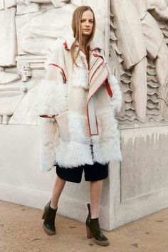 Chloé Pre-Fall 2014, oversize coat, ankle boots
