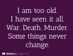 war. war never change