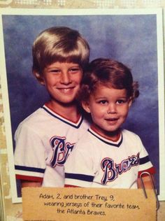 2 year old Waino with his brother Trey from the Cardinals Gameday magazine.
