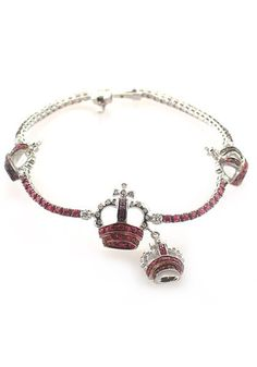 Adolfo Courrier - Ruby and Diamond Crown Bracelet from Osterjewelers.com