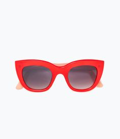Red and coral resin sunglasses - View all - Accessories - WOMAN 4f9721e61428