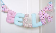 BELLA - Personalized Baby Name wall hanging, kids nursery decor. Perfect gift for a new baby girl. Christening or baby shower.