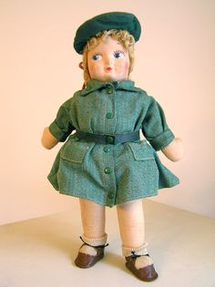 Vintage Georgine Averill Girl Scout Doll 40s by sweetlilystudio, $40.00