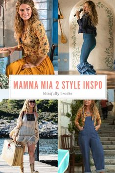 Steal Her Style: Outfits Inspired By Mamma Mia 2 Steal Her Style: Von Mamma Mia 2 inspirierte Outfits 70s Outfits, Preppy Outfits, Simple Outfits, Boho Outfits, Classy Outfits, Winter Outfits, Fashion Outfits, Summer Outfits, Fashion Ideas