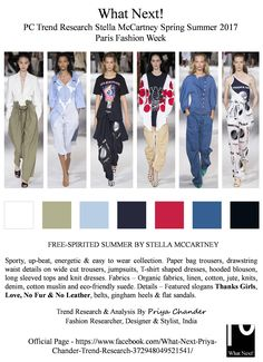 #StellaMcCartney #StellaMcCartneySS17 #Parisfashionweek #PFW #fashion #womenswear #nofur #McCartney #paperbagtrousers #drawstring #fashionnews #fashionforecast #priyachander #whatnextpctrendresearch #fashioneditor #runway #fashionista #readytowear #RTW #sporty #finaledance #jumpsuits #TimBlanks #fashionindustry #fashionweek #outfits #denim #springsummer2017 #ThanksGirls #Noleather #Love