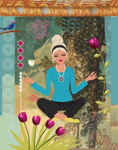 #illustration #yoga #poster Part of a series of illustrated Yoga posters http://www.etsy.com/ca/shop/JACKIEPOPPRINTS