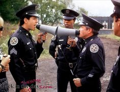 Police Academy movie.....I always wanted to make sounds like motor mouth jones :)