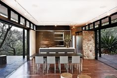 Cottage Design : Westcliff Pavilion in Johannesburg by GASS Steel Frame House, Steel House, Cottage Design, House Design, Studio Design, Interior Architecture, Interior Design, Interior Modern, Pavilion