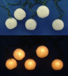 KSA White Flocked Ball Christmas Lights  U$18