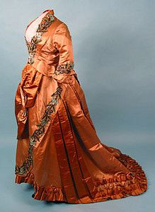 Beaded Satin Reception Gown, 1880s October 24, 2004 - Session 2 Lot 693 - $650.00