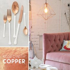 Copper is a booming trend in design! Check out the beautiful products we found kissed with copper!