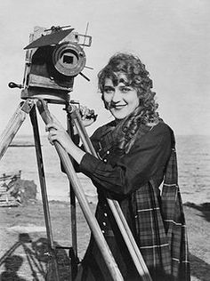 Mary Pickford- actress and one of the first female figures in film-making
