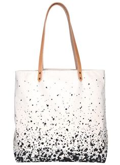 Splatter Tote Bag - Natural - bags and luggage, ladies black bags, black ladies . Tote Bags, My Bags, Purses And Bags, Tote Handbags, Do It Yourself Inspiration, Design Inspiration, Diy Accessoires, Cotton Bag, Bag Making