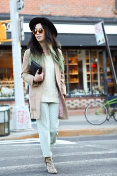 It ain't easy being green...Williamsburg, Brooklyn street style shot by Tracy Wang