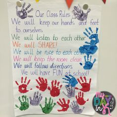 Five for Friday: The First Full Week! Classroom Birthday, Toddler Classroom, Classroom Rules, Primary Classroom, Toddler Behavior, Teacher Classroom Decorations, Classroom Crafts, Classroom Themes, Early Childhood Activities