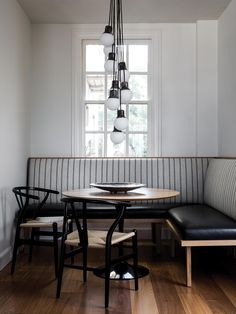 Super Ideas For Breakfast Nook Banquette Small Dining Banquette D Angle, Banquette Seating In Kitchen, Small Kitchen Tables, Dining Nook, Small Dining, Dining Room Design, Kitchen Nook, Kitchen Dining, Kitchen Decor